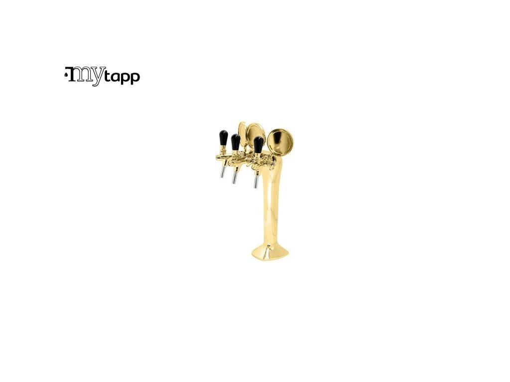 vycepni stojan COBRA 3 s třemi pákami - zlaty