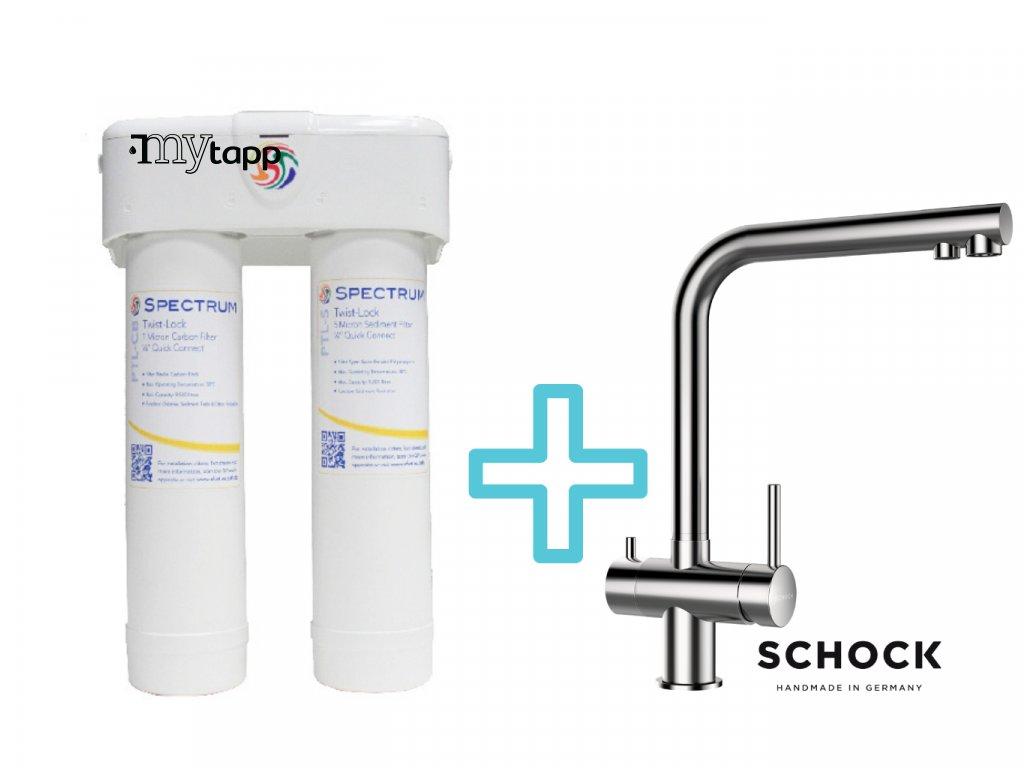 Výhodný set filtru SPECTRUM Ultrafiltrace +dřezové baterie SCHOCK VITUS