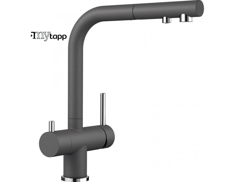Kuchyňská baterie pro filtrovanou vodu Blanco Fontas s II šedá skála 525207