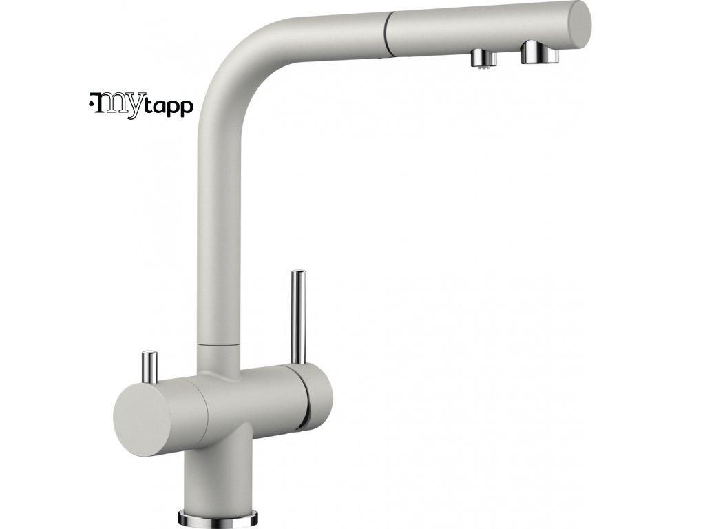Kuchyňská baterie pro filtrovanou vodu Blanco Fontas s II perlově šedá 525208