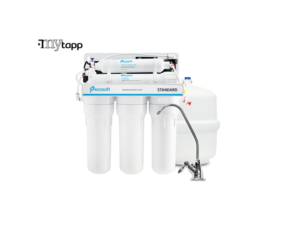 ecosoft standard reverse osmosis filter with pump