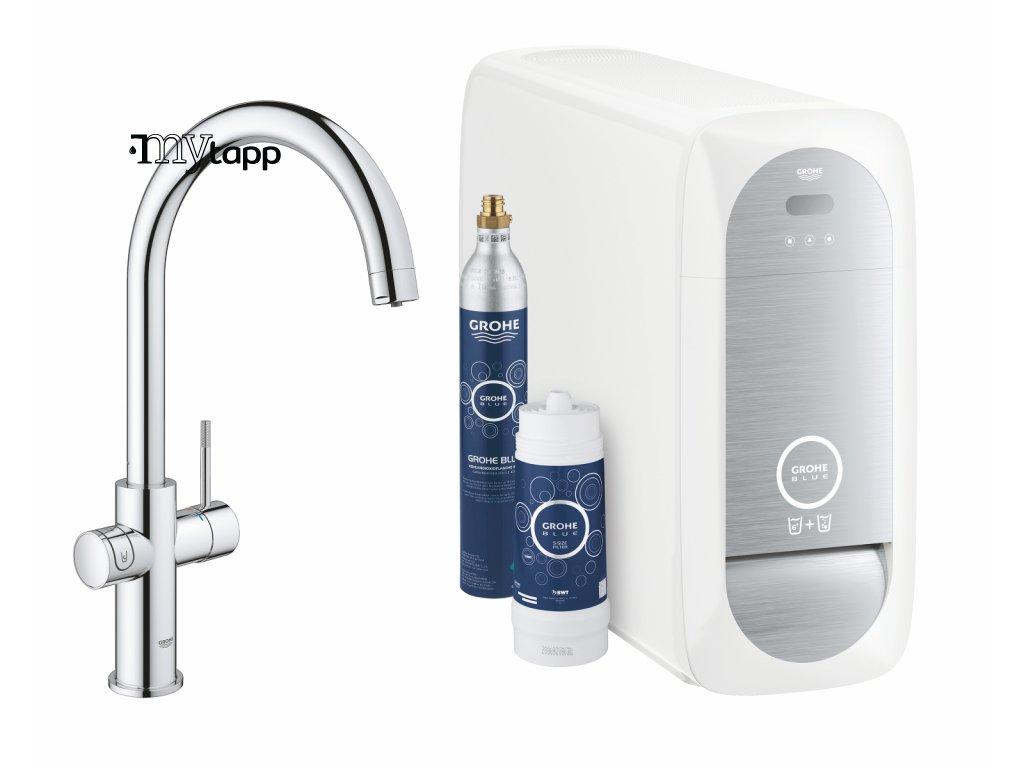 Grohe Blue Home - Dřezová baterie Connected, s chladícím zařízením a filtrací, chrom 31455001