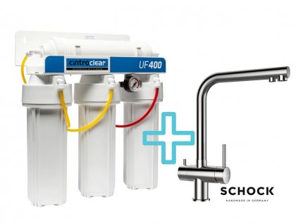 Výhodný set filtru Cintroclear UF400 Ultrafiltrace + dřezové baterie SCHOCK VITUS