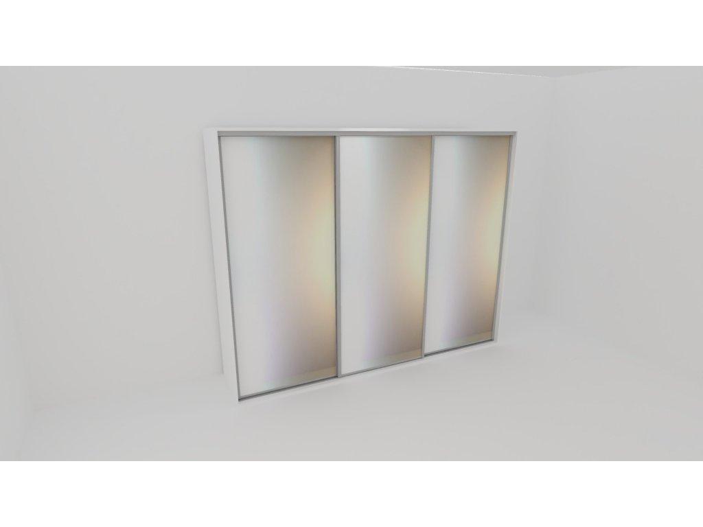 Skříň FLEXI 3 š.240cm v.220cm : 3x zrcadlo