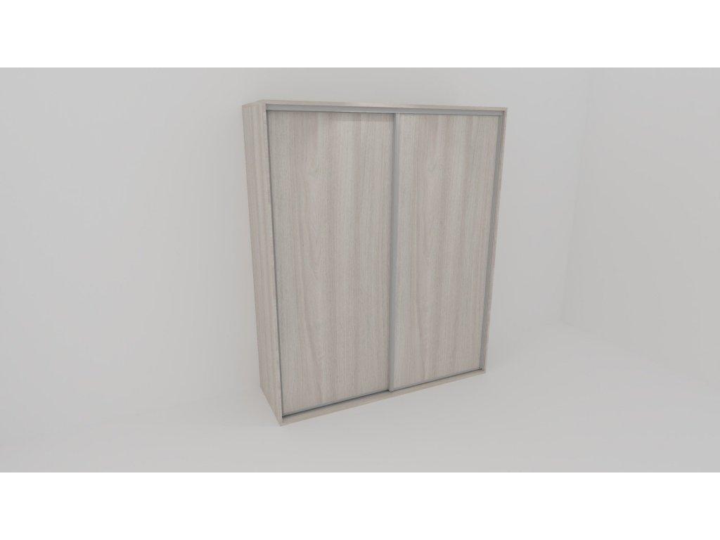 Skříň FLEXI 2 š.220cm v.240cm : 2x dveře plné