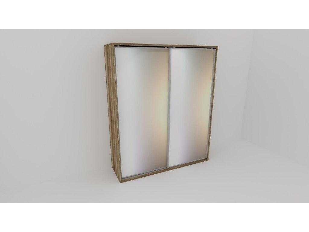 Skříň FLEXI 2 š.220cm v.240cm : 2x zrcadlo
