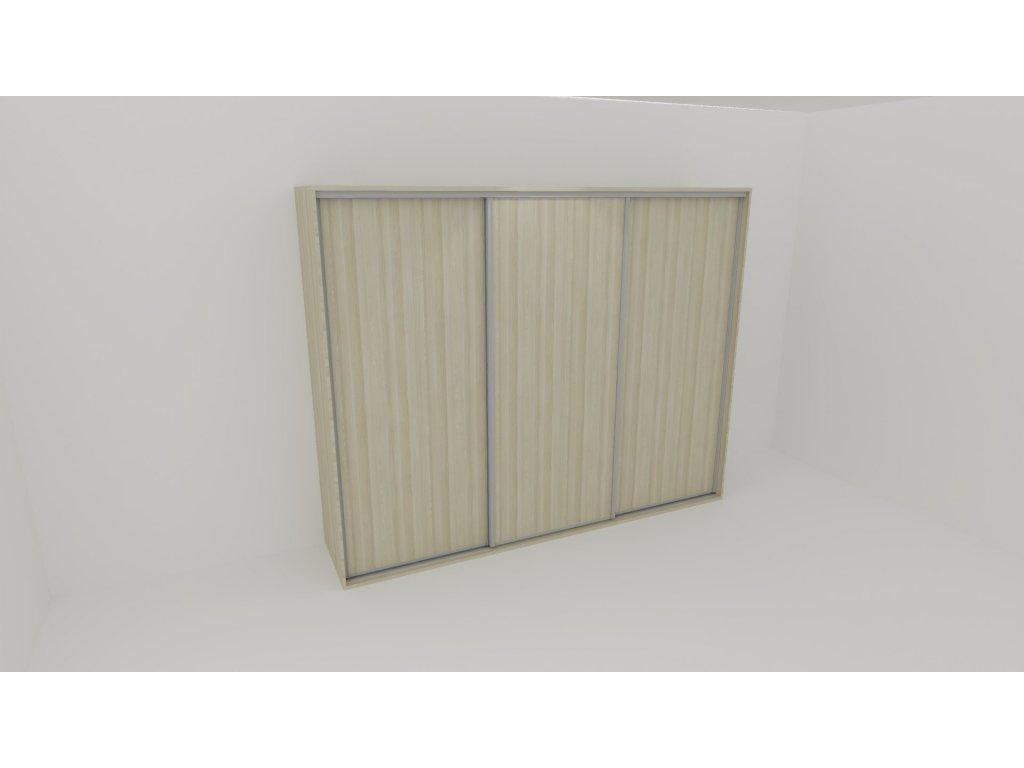 Skříň FLEXI 3 š.260cm v.240cm : 3x dveře plné