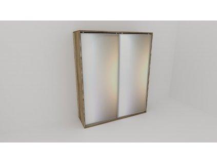 Skříň FLEXI 2 š.200cm v.240cm : 2x zrcadlo - z letáku