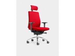 4250660212404 1 loeffler designteam drehstuhl figo k95 rot mit armlehnen mit lordosenstuetze 600x600