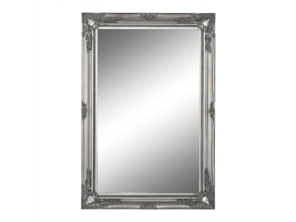 Kondela Zrcadlo, stříbrný dřevěný rám, MALKIA TYP 7