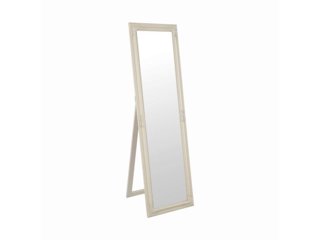 Kondela Zrcadlo, dřevěný rám smetanové barvy, MALKIA TYP 12