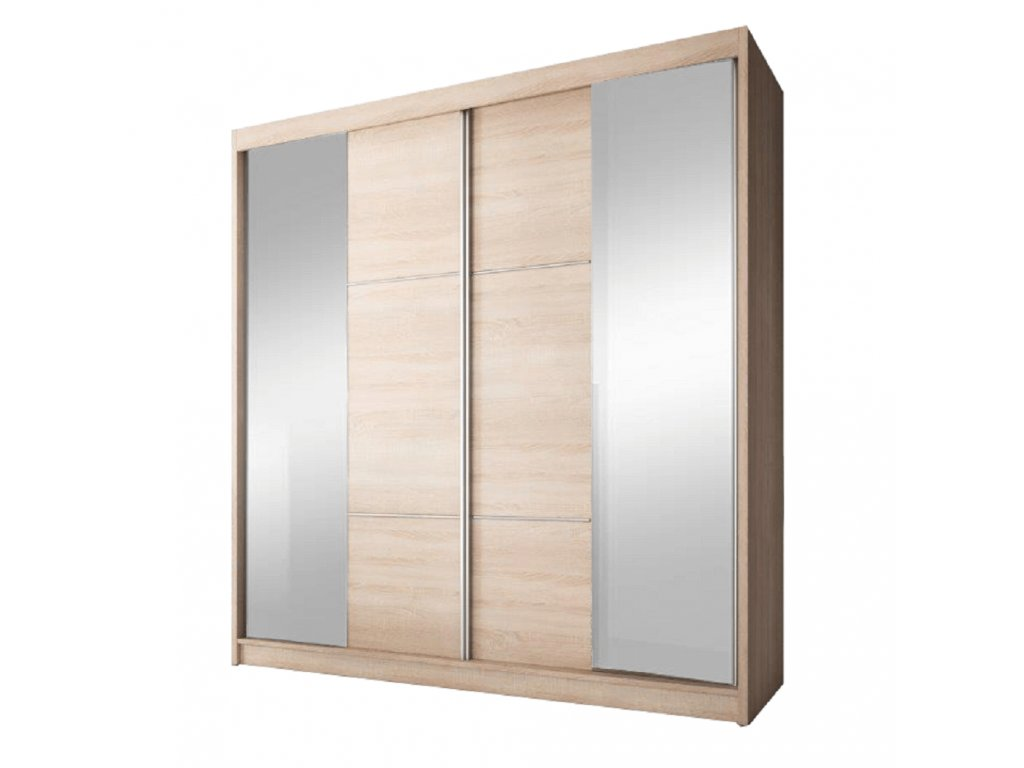 Kondela Skříň s posuvnými dveřmi, dub sonoma, 233x218, MULTI 36