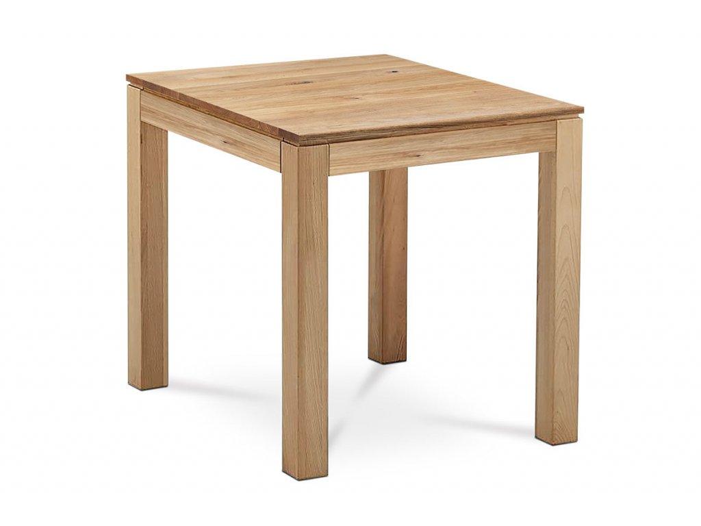 Jídelní stůl 80x80x75 cm, masiv dub, povrchová úprava olejem, nohy 8x8 cm