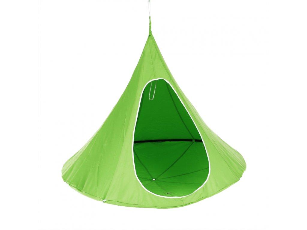 Kondela Závěsné houpací křeslo, zelená, KLORIN NEW BIG SIZE CACOON HAMMOCK