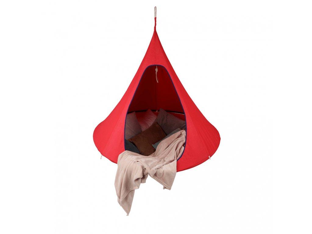 Kondela Závěsné houpací křeslo, červená, KLORIN NEW KIDS CACOON HAMMOCK
