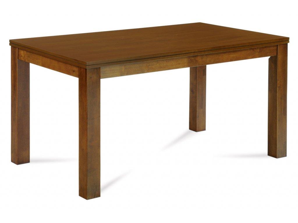 Jídelní stůl 150x90 cm, deska MDF a dýha, nohy masiv kaučukovník, moření ořech l