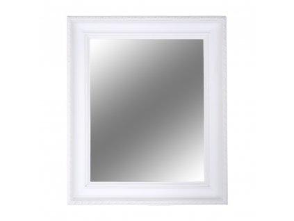 Kondela Zrcadlo, dřevěný rám bílé barvy, MALKIA TYP 2