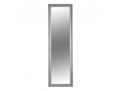 Kondela Zrcadlo, dřevěný rám stříbrné barvy, MALKIA TYP 5