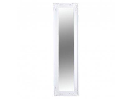 Kondela Zrcadlo, dřevěný rám bílé barvy, MALKIA TYP 8