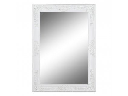 Kondela Zrcadlo, dřevěný rám bílé barvy, MALKIA TYP 9