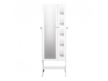 Kondela Zrcadlo s úložným prostorem na bižuterii, bílá, CANINI