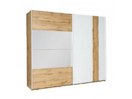 Kondela 2-dveřová skříň, dub wotan/bílá, VODENA 250