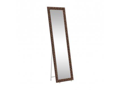 Kondela Designové zrcadlo, hnědá, PANTOS