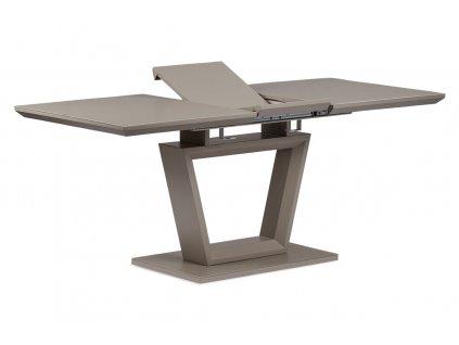 Rozkládací jídelní stůl 140+40x80x76 cm, MDF deska, barva matná lanýžová, lanýžo
