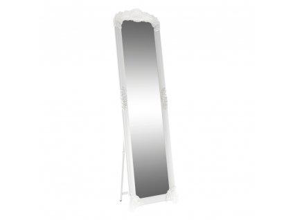 Kondela Stojanové zrcadlo, bílá / stříbrná, Casius