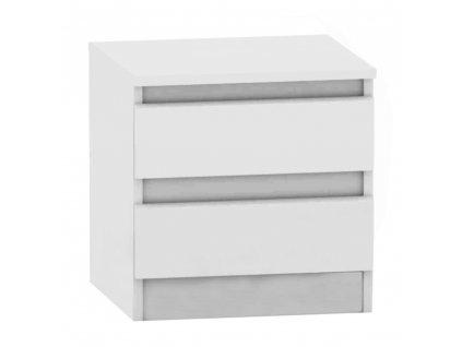 Kondela 2 šuplíkový noční stolek, bílá, HANY NEW 002