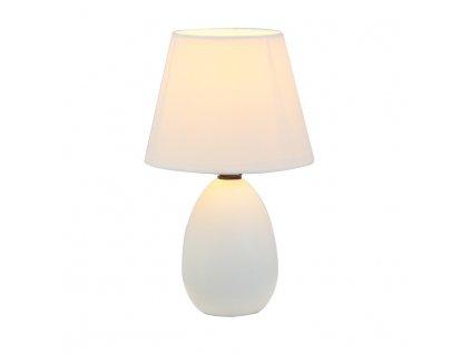 Keramická stolní lampa, bílá, QENNY TYP 12