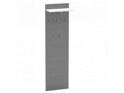 Kondela Věšákový panel, grafit / bílá, RIOMA NEW TYP 19