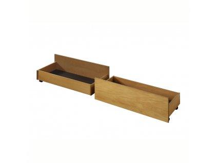 Kondela 2 kusy, zásuvný kontejner pod postel, dub, MIDEA