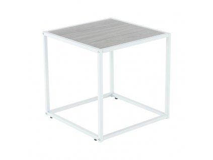 Kondela Příruční stolek, dub/bílá, JAKIM TYP 2 NEW