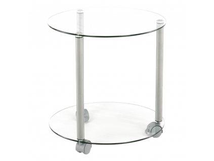 Kondela Pojízdný příruční stolek, šedá, TALAN