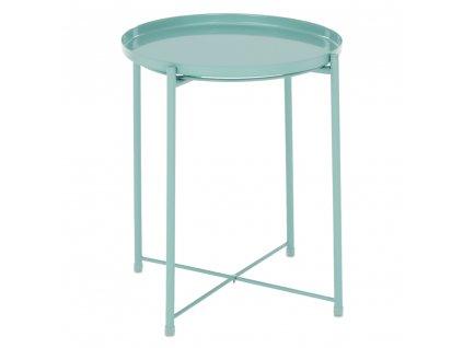 Kondela Příruční stolek s odnímatelnou tácem, neo mint, TRIDER