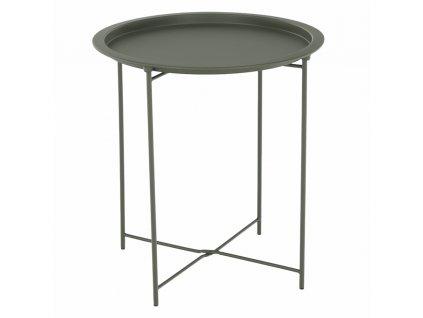 Kondela Příruční stolek s odnímatelnou tácem, šedozelená, RENDER