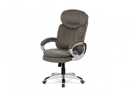 Kancelářská židle, houpací mech., šedá látka, plast. kříž