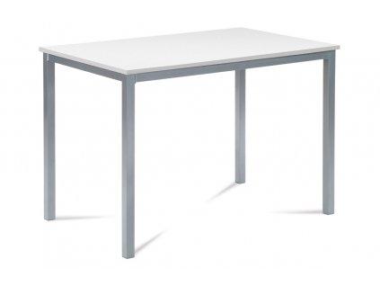 Jídelní stůl 110x70 cm, MDF bílá / šedý lak