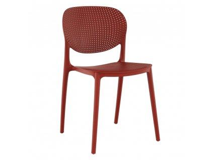 Kondela Stohovatelná, židle, červená, FEDRA