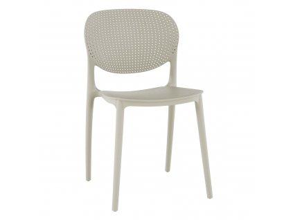 Kondela Stohovatelná židle, šedá, FEDRA