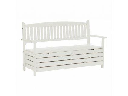 Kondela Zahradní lavička, bílá, 150cm, AMULA