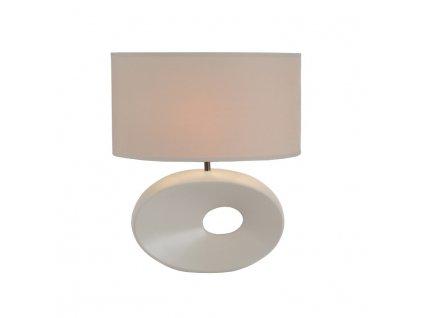 Kondela Keramická stolní lampa, bílá, QENNY TYP 9
