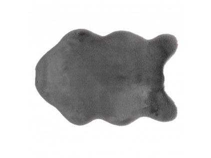 Kondela Umělá kožešina, šedá, 60x90, RABIT TYP 3