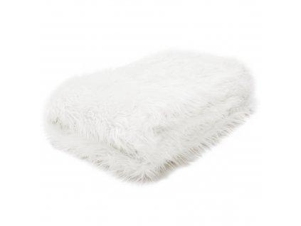 Kondela Kožešinová deka, bílá, 150x180, Ebona TYP 1