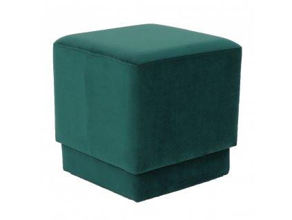 Kondela Taburet, smaragdová Velvet látka, Alim