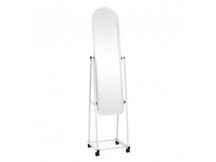 Kondela Zrcadlo na kolečkách, bílá, DUMAS