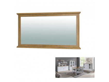 Kondela Zrcadlo MZ16, bílá/dub grand, LEON