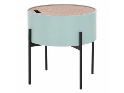 Kondela Příruční stolek, neo mint / přírodní / černá, MOSAI