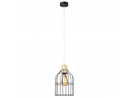 Kondela Visící lampa, černá / kov, ASTOK